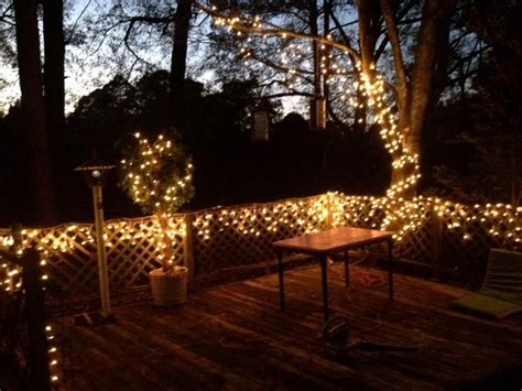 deck lighting with christmas lights outdoor projects