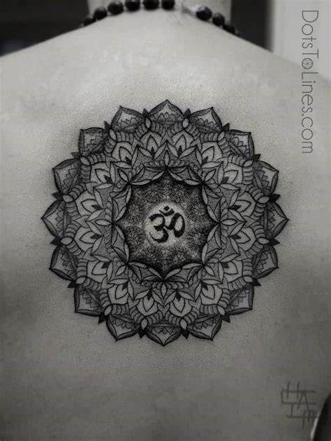 mandala tattoo sacred geometry chaim machlev uses the ohm symbol for spirituality in this