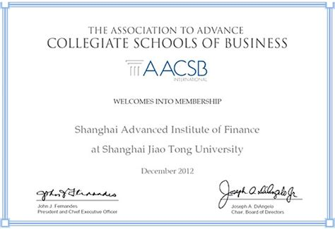 Finance Mba Degree by Shanghai Advanced Institute Of Finance Finance Mba In