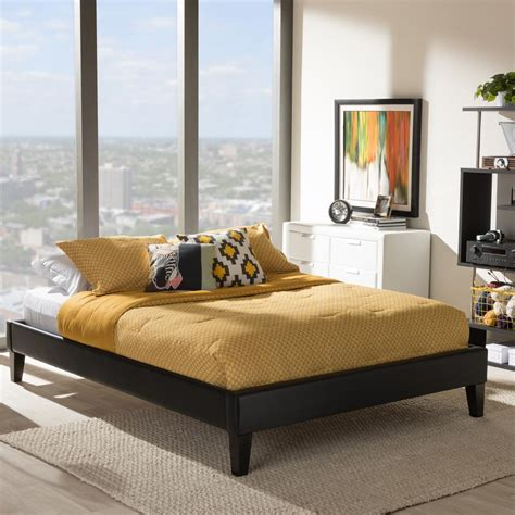 baxton studio brighton contemporary faux leather bedroom baxton studio lancashire full faux leather upholstered bed