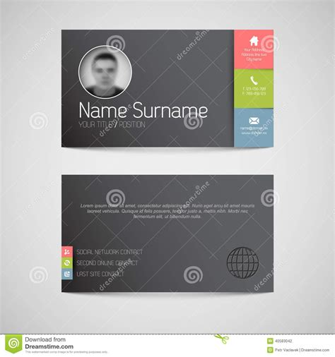 business card template millions of users template for business card vector illustration