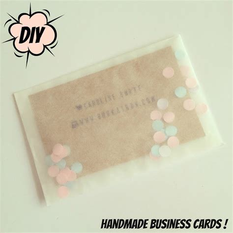 Handmade Card Business - handmade crafty business cards diy burkatron