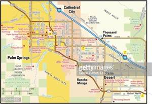 palm springs area map vector getty images