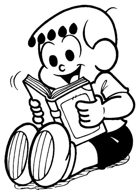 Desenho de Franjinha lendo livro para colorir - Tudodesenhos