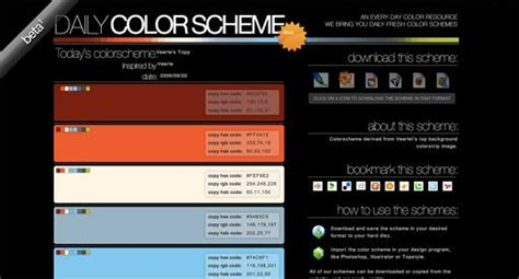 color combination for website 25 awesome tools for choosing a website color scheme
