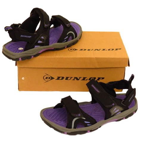Trail Toes Tire Trainer Dunlop Black Open Toe Trail Walking Hiking Trainers