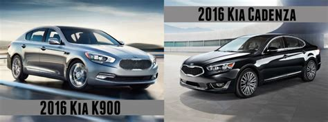 Kia Optima K900 2016 Kia K900 Vs 2016 Kia Cadenza