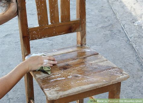 Holz Lackieren Auf Alt by How To Paint An Wooden Chair 10 Steps With Pictures