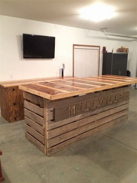 Bar Top 30 1000 Ideas About Outdoor Pallet Bar On Pallet