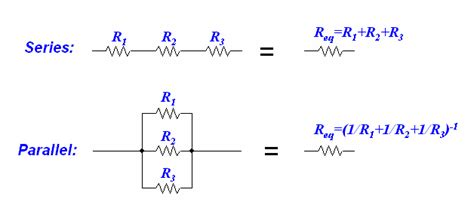 are the three resistors shown wired in series parallel or a combination resistors ohm s capacitors and inductors northwestern mechatronics wiki