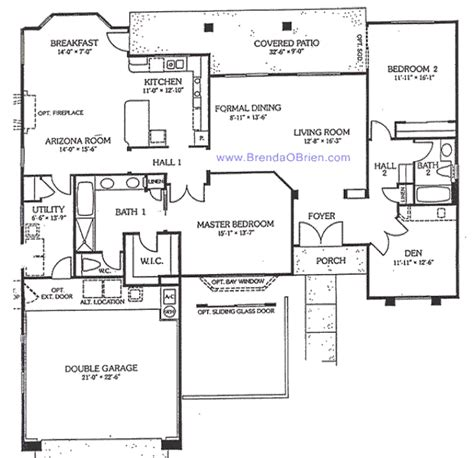 sun city vistoso floor plan crown point model