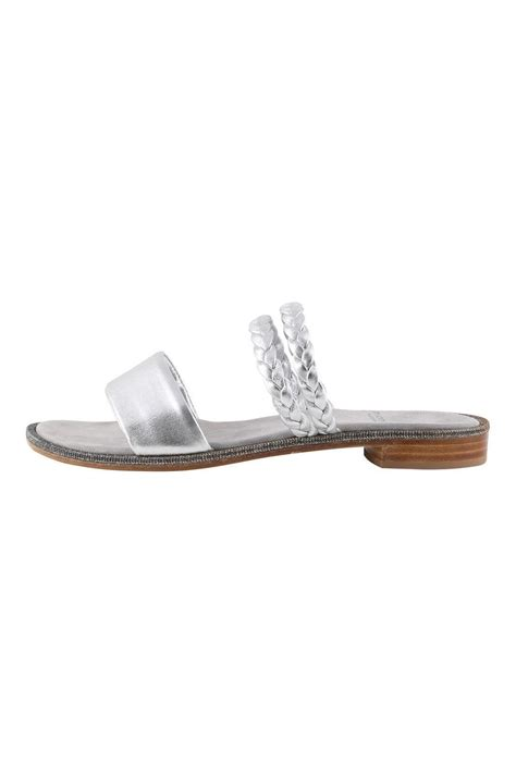 Silver Bowknot Flat Sandal Shoes Import amanda jayne silver shimmery sandal from monmouthshire by