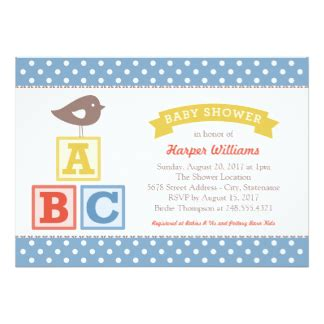 abc baby shower invitations abc baby shower invitations announcements zazzle