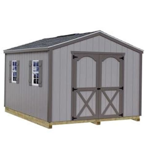 diy shed kit home depot best barns elm 10 ft x 8 ft wood storage shed kit with
