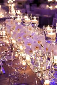 mirror wedding centerpieces on wedding alter