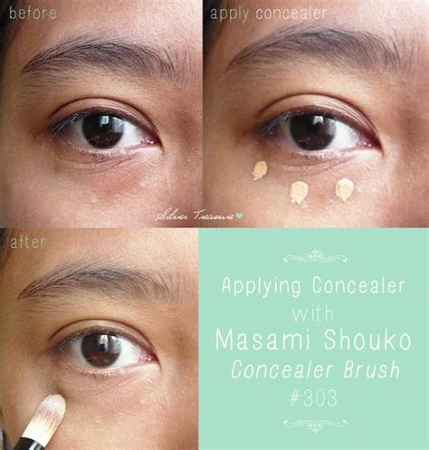 Kuas Makeup Masami Shouko masami shouko concealer brush 303 silver treasure