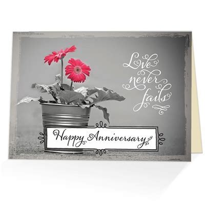 Corinthians 13:8 Anniversary Card   Scriptural Anniversary