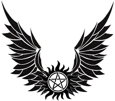 anti possession tattoo real anti possession with cas s wings i want this
