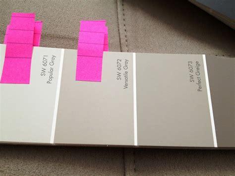 paint color comparison sw comparison versatile gray and perfect greige