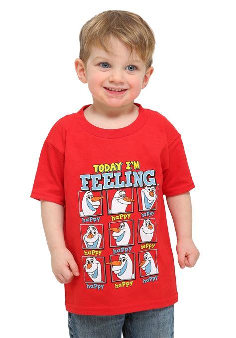 Toddler Boy Shirt - toddler frozen feeling happy olaf boys t shirt