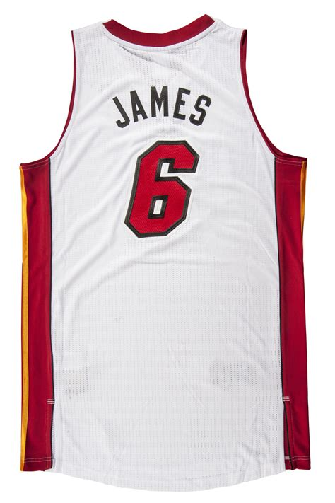 Jersey Miami Heat 6 lot detail lebron signed miami heat jersey deck authenticated