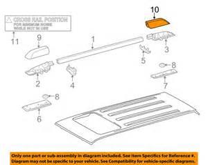 toyota oem 4runner roof rack rail luggage carrier rear