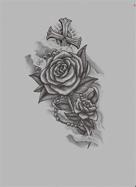 tattoo pen rose rose n rosary raw by konz3pt on deviantart round 2