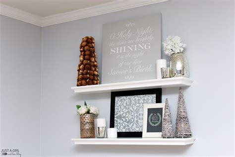 a diy sign and christmas shelf decor behr holiday hues