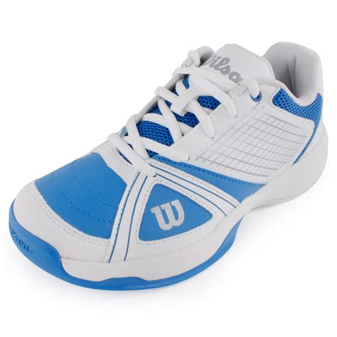 tennis express wilson juniors ngx tennis shoes blue and