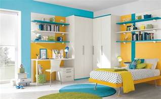 Blue yellow white bedroom decor interior design ideas