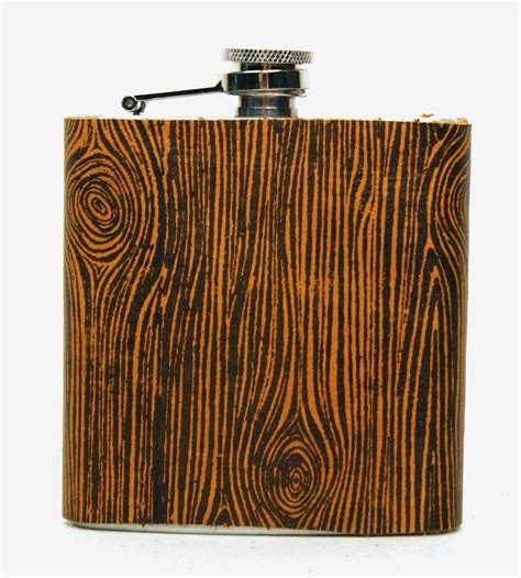 Handmade Flask - wood grain leather wrapped flask handmade flasks and woods