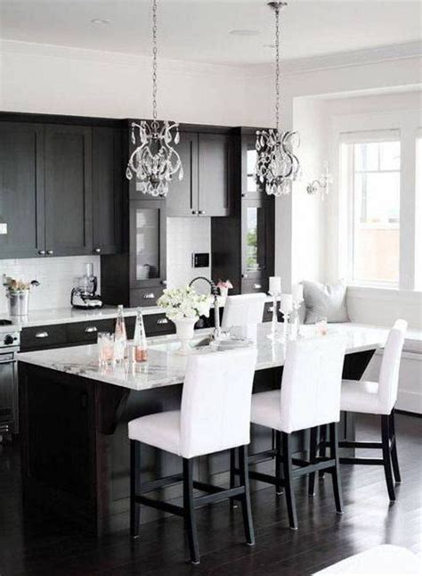 terrific black  white kitchen design ideas  white