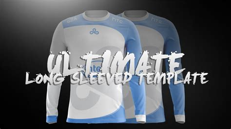 jersey design tutorial ultimate long sleeved jersey template l design tutorial