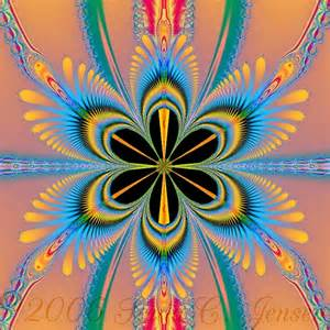 native american flower fractal by sonia c jensen