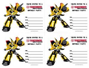 transformers birthday invitations all free printable
