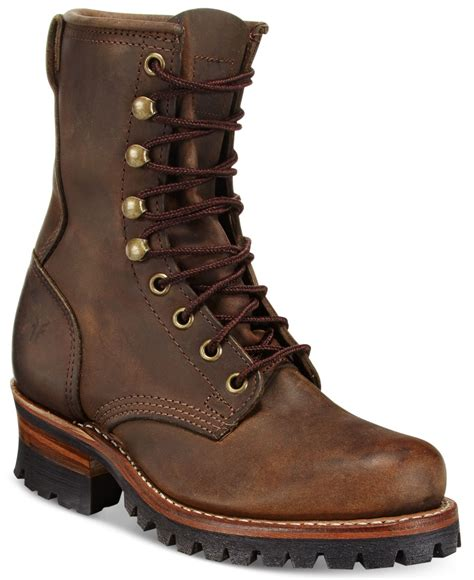 logger boots for frye s logger 8g mid shaft boots in brown lyst