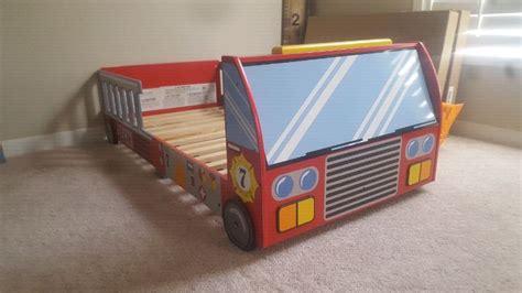 toddler fire truck bed toddler fire truck bed beds mattresses calgary kijiji