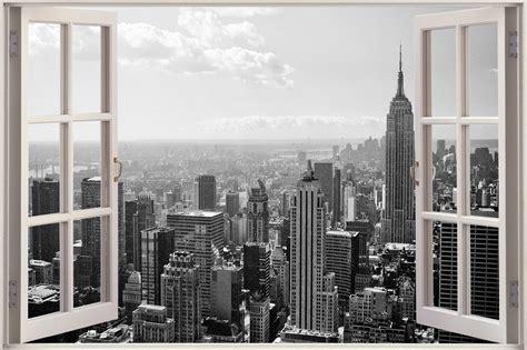 wallpaper 3d new york huge 3d window new york city view wall stickers mural film