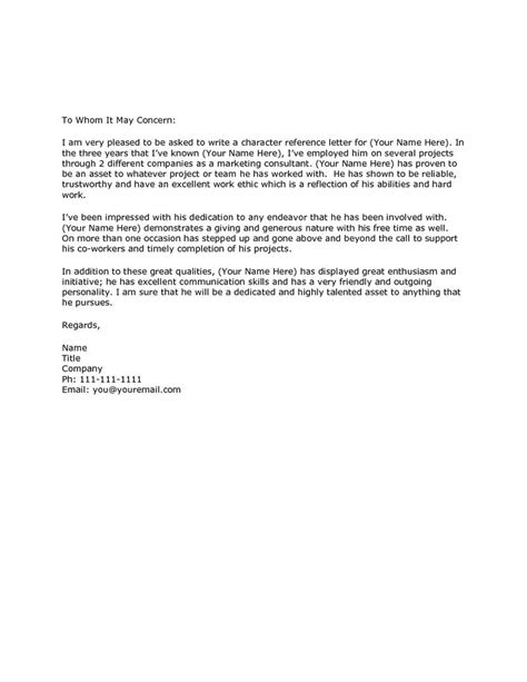 Recommendation Letter On Character 1000 Ideas About Reference Letter On Work Reference Letter Writing A Reference