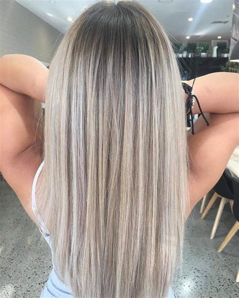 silver blonde root shadow hair ideas pinterest perfect ash blonde root shadow short hairstyles