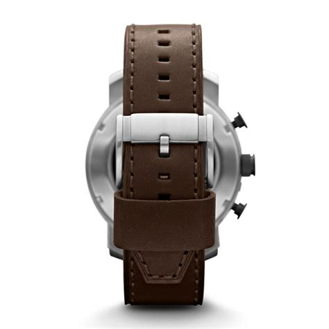 Fossil Jr 1390 Original Leather nate chronograph brown leather fossil