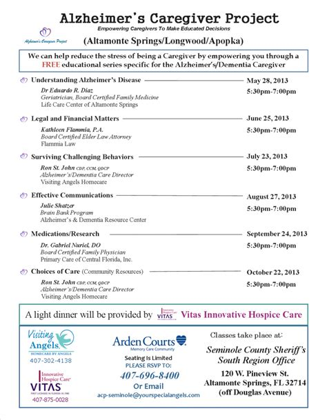 visiting alzheimer s caregiver project classes