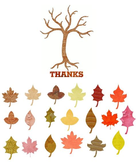 thankful tree template 27 free thanksgiving printables pretty my