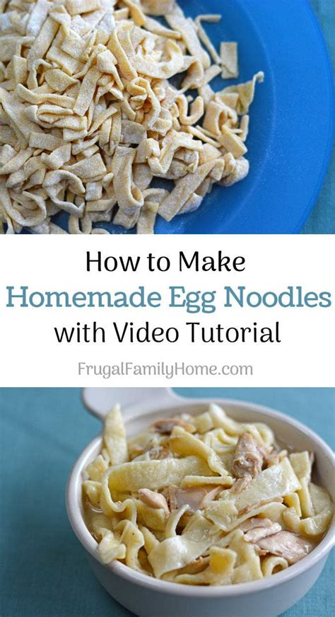 How To Make Handmade Noodles - how to make egg noodles without a pasta machine
