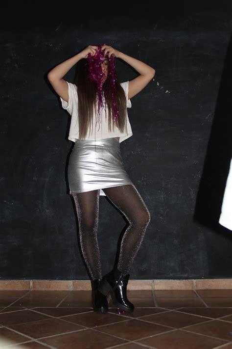 Jual Bershka Metallic Mini Dress by Cardiel Silver Mini Skirt H M Glitter Tights