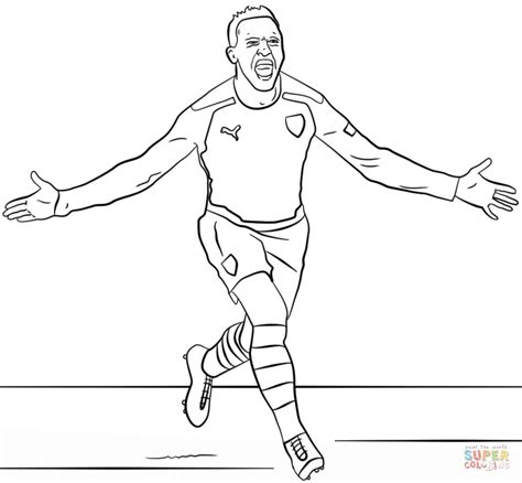 alexis sanchez drawing alexis s 225 nchez coloring page free printable coloring pages