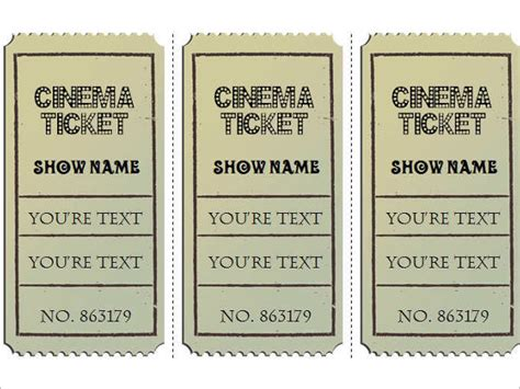 raffle ticket template free word pdf format download