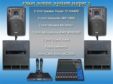 Subwoofer Huper paket sound system huper 2