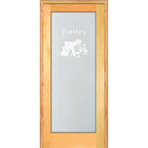 Wood Pantry Doors by Mmi Door 31 5 In X 81 75 In Pantry Decorative Glass 1 Lite Unfinished Pine Wood Interior