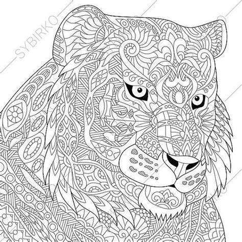 tiger mandala coloring pages tiger adult coloring page zentangle doodle by